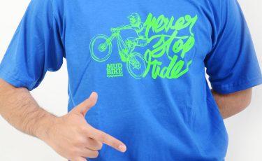 camiseta mudbikes azul
