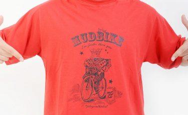 camiseta mudbikes vermelha